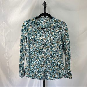 Old Navy Floral Print Button Up Shirt, size Medium